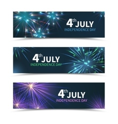 Usa independence day banners set with vector
