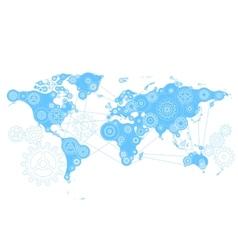 World mechanism vector image vector image