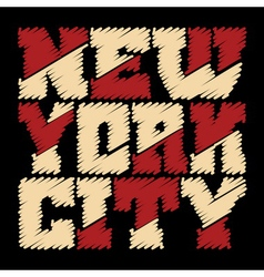 T shirt typography new york drawn vector