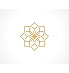 geometric arabic pattern vector image