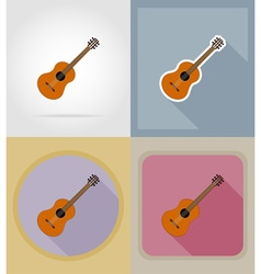 Music items and equipment flat icons 06 vector