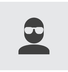 Man in glasses icon vector