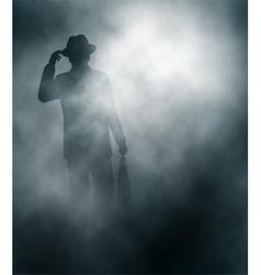 Misty businessman vector image