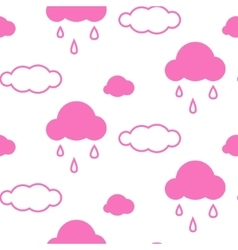 Pink sky clouds seamless pattern vector