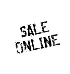 Sale online rubber stamp vector