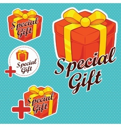 Special gift stickers vector