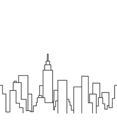 Silhouette of the cityscape vector