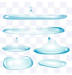 Flatten water drops set vector