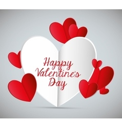 Happy valentines day colorful card vector