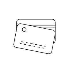 Plastic card line icon vector