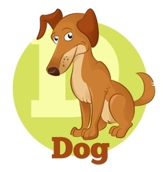 Abc cartoon dog vector