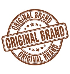 Original brand brown grunge round vintage rubber vector