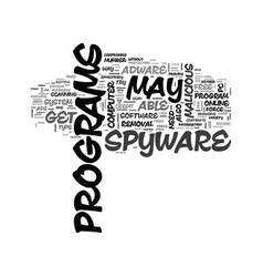 Adware free removal scan spyware text word cloud vector