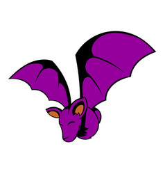 bat icon cartoon vector image
