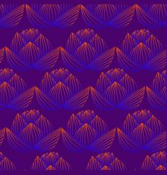 beautiful bright lotus flowerorange blue neon vector image