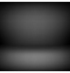 Black Empty Studio Background vector image