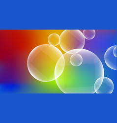 Bubbles on colorful background vector