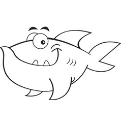 Cartoon smiling fish vector image vector image