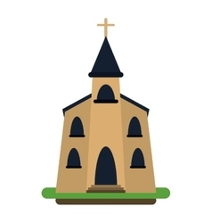 church building religious christian vector image