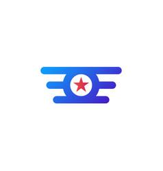 circle star wing logo abstract design concept vector image vector image