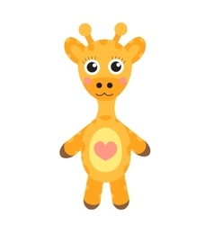 Cute cartoon character giraffe baby toy giraffe vector