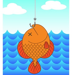 dead fish and fishing vector image