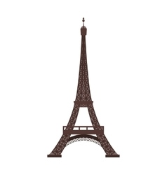 Eiffel tower icon in cartoon style isolated on vector image