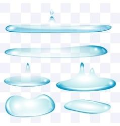 Flatten water drops set vector image