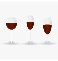 glasses with red wine vector image vector image
