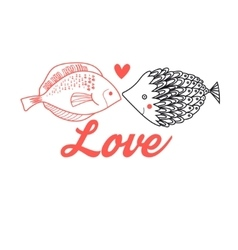 Graphic fish lovers vector