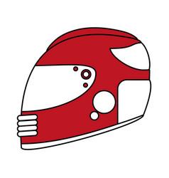 Helmet flat vector