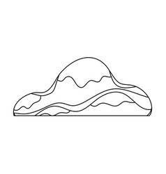 low brown sand mountaindifferent mountains single vector image vector image