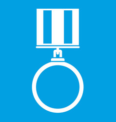 medal for services icon white vector image vector image