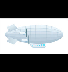 modern dirigible isolated icon vector image
