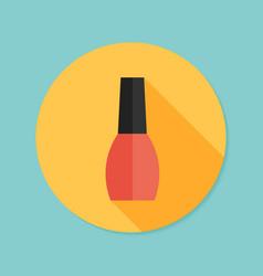 nail polish flat icon with long shadow eps10 vector image vector image