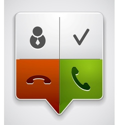 Phone buttons in one pointer vector image vector image