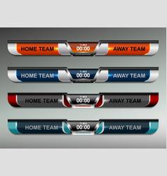 Scoreboard design elements vector