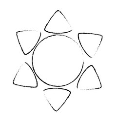 Sun weather symbol vector