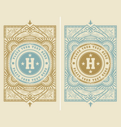 Template vintage cover vector