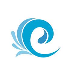 wave tsunami icon flat style vector image