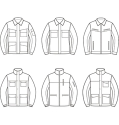 Work jacket set vector