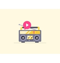 Boombox stereo icon vector