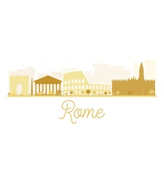 Rome city skyline golden silhouette vector
