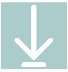 Down arrow or load symbol the white color icon vector