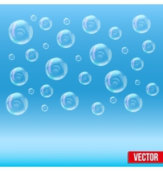 Spa aqua simple background with bubbles vector