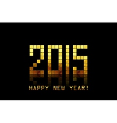 - happy new year 2015 - with golden numbers vector