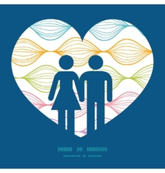 Colorful horizontal ogee couple in love vector