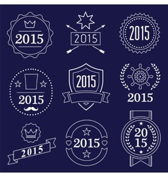 Typographic 2015 set vintage labels signs vector