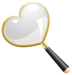 Love search magnifying glass vector