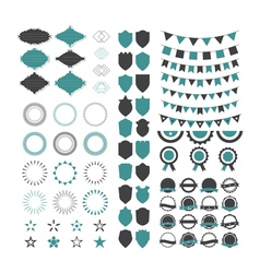 Collection of premium design elements set of vector